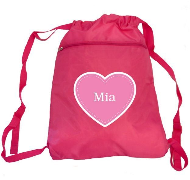Swim Bag Heart- Pink (one size only)