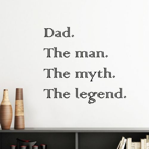 Myth Legend Dad Festival Quote Silhouette  Removable Wall Sticker Art Decals Mural DIY Wallpaper for Room Decal #Wallsticker #World #Wallpaper #Best #Decoration #FatherFestival #Walldecor #Quote #Homedecor #Stickers #Poster #DIY #Decorationsforhome #Wallart