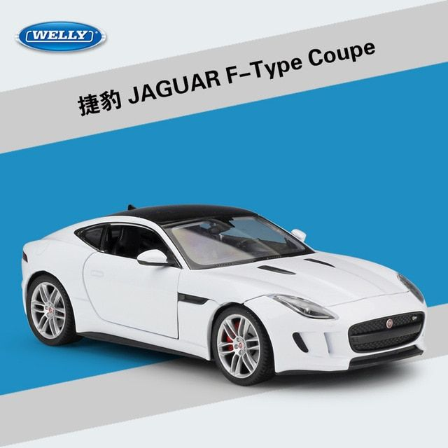 Welly 1 24 High Simulation Model Toy Car Metal Jaguar F Type Coupe Alloy Classical Car Diecast Vehicle For Boys Gifts Collection Rev Jaguar F Type Jaguar Coupe