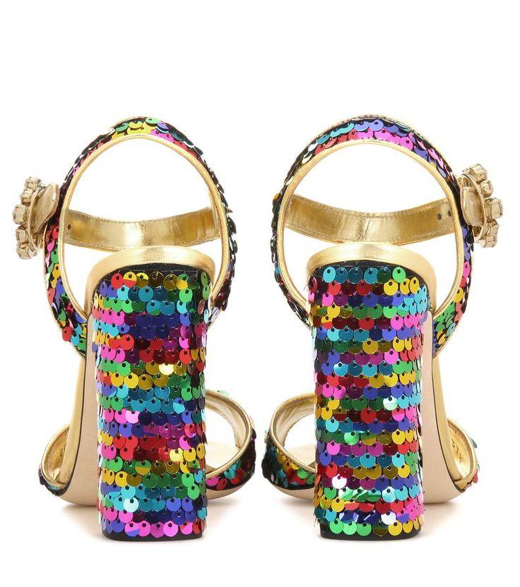 Sandali Keira con paillettes arcobaleno