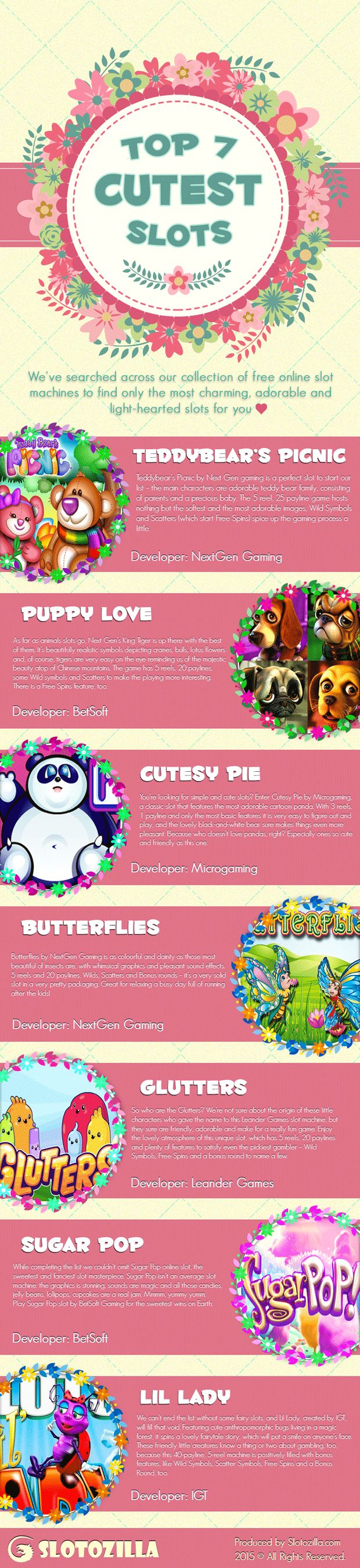 Top Free and Cutest Online Slot Machine Games to Play | Casino Infographics: