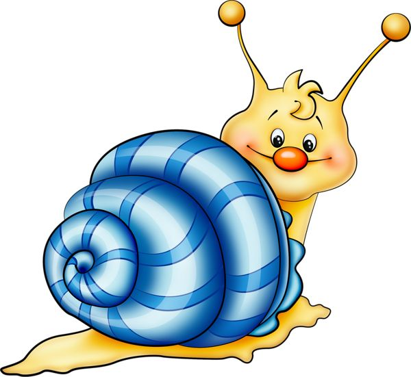 Blue Snail Cartoon PNG Picture