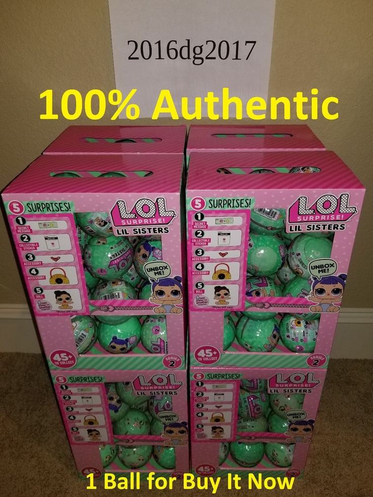 LOL Surprise Doll LIL SIS Little Sisters Tots SERIES 2 WAVE 2 L.O.L. Ball Big  #MGA #lol #lolzonline  #lollilsis