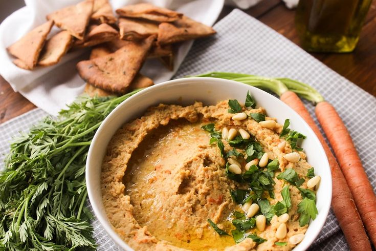 This Roasted Balsamic Carrot Hummus is the perfect appetizer for your Easter table!