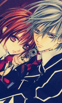 Zero Kiriyu y Yuuki Cross ~ Vampire Knight (Misterio, Drama, Romance, Shoujo, Vampiros, Sobrenatural)