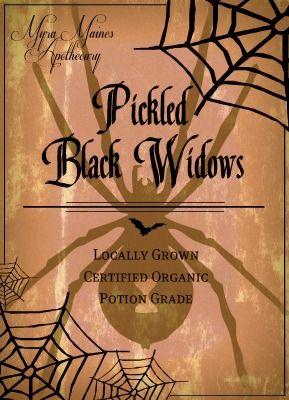 pickled black widows - Pinterest Halloween Printables