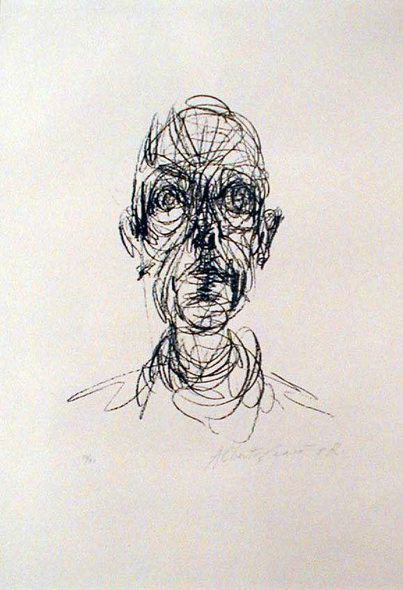 Giacometti drawing