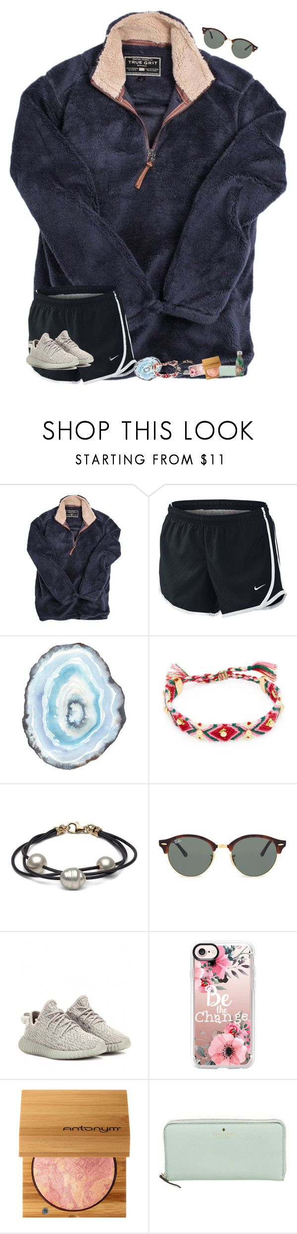 """""""•fri~yay!•"""" by mackenzielacy814 ❤ liked on Polyvore featuring True Grit, NIKE, Rebecca Minkoff, Ray-Ban, adidas Originals, Casetify and Kate Spade"""