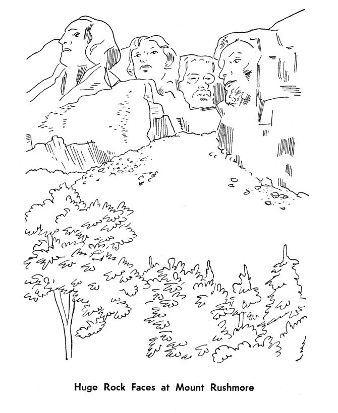 mount rushmore coloring printable coloring pages. Black Bedroom Furniture Sets. Home Design Ideas