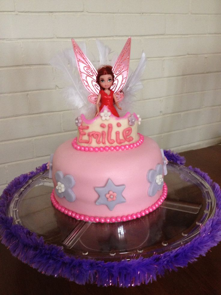 Fairy Princess Cake Images : Fairy princess themed birthday cake for 5yo. Cakes made ...