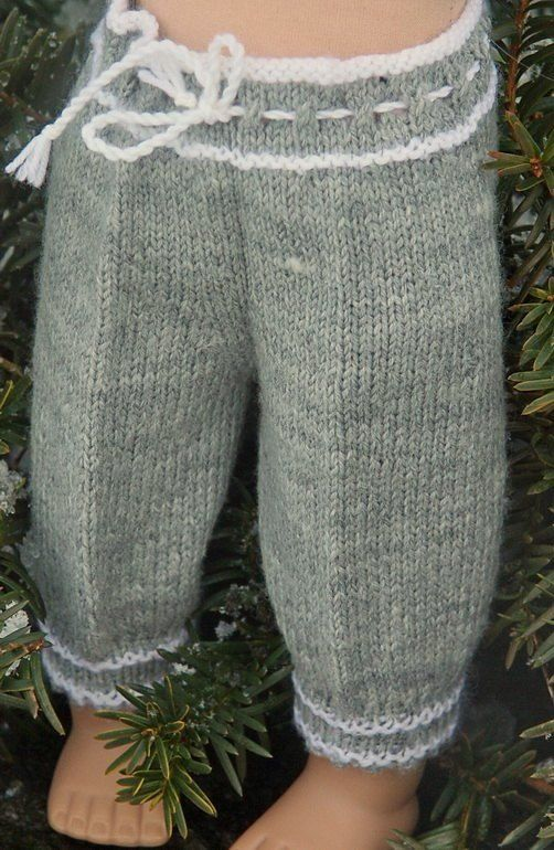 Drawstring pants. (The pattern is for doll clothes, but I like the concept for babies too.)