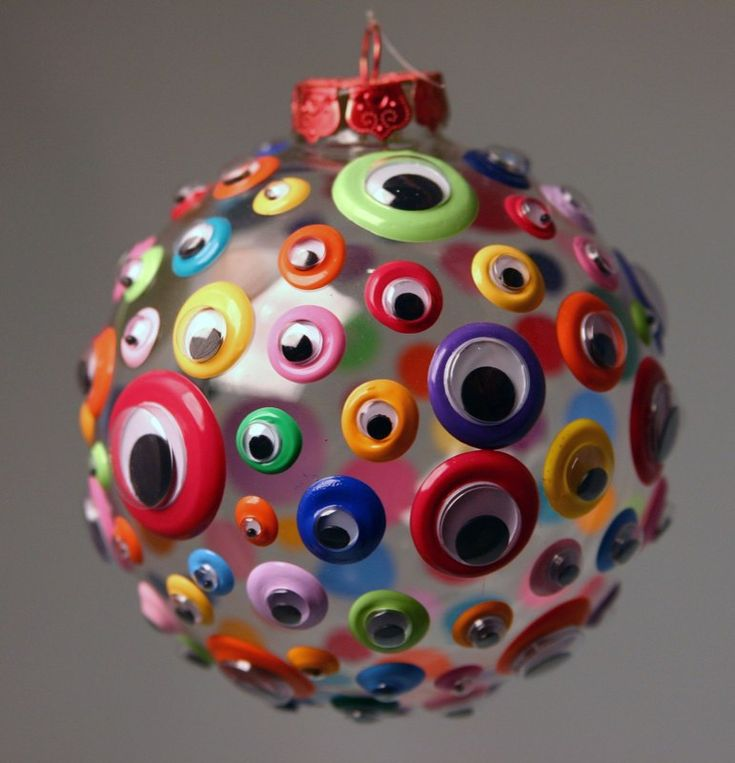 googly eye ornament!  kids will love making these.