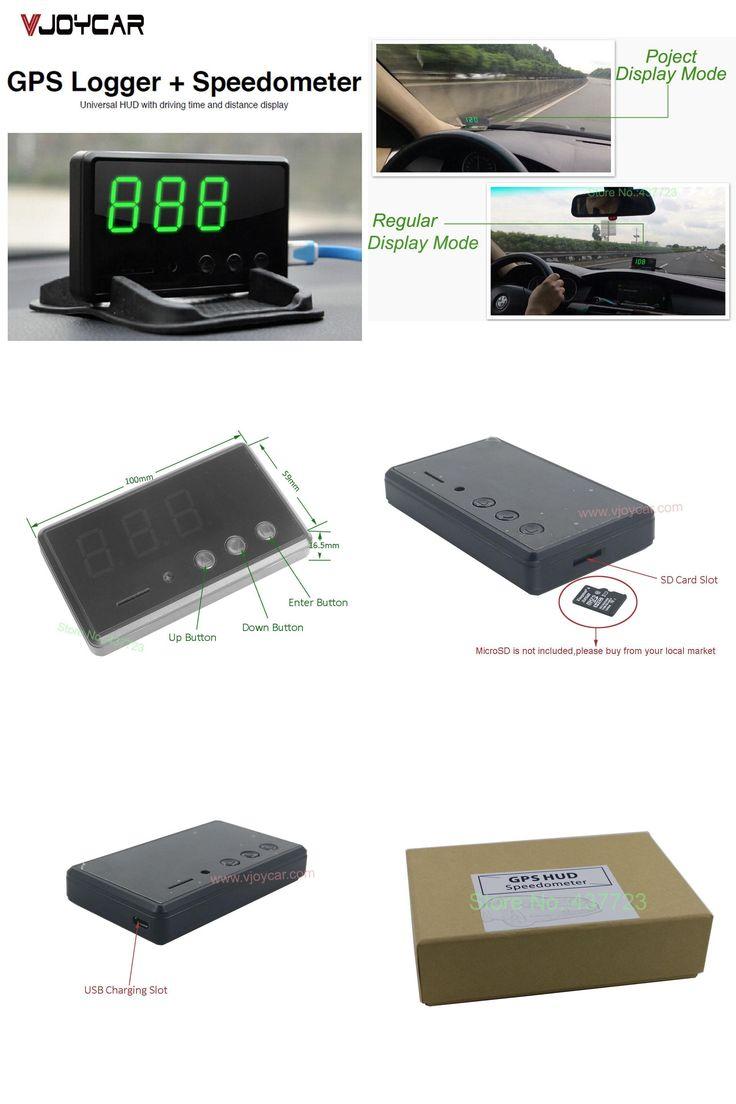 [Visit to Buy] VJOYCAR C61 Car GPS Data Logger + Hud Head Up Speedometer Mileage Display 2 In 1 Device  #Advertisement