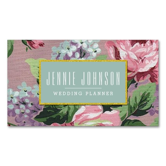 2198 best floral business card templates images on pinterest pink mint vintage floral business card cheaphphosting Image collections