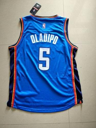 Oklahoma City Thunder #5 Victor Oladipo Jersey Blue