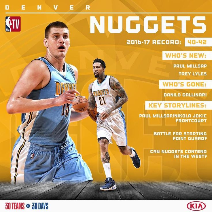 """""""With addition of Paul Millsap, the @nuggets look to make a push for the Playoffs. #KiaTipOff17"""""""