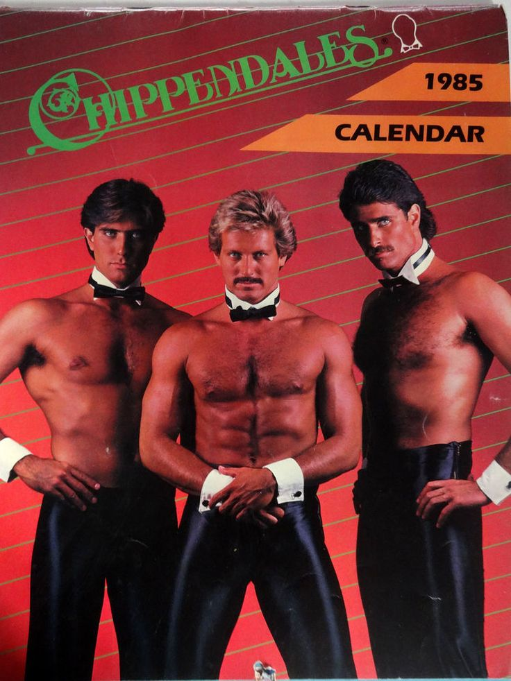 VINTAGE Chippendales Calendar 1985 VERY RARE I must ...
