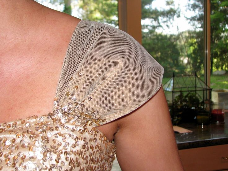 Adding Sleeves to Strapless Princess Dress   Tuesday, October 18, 2011