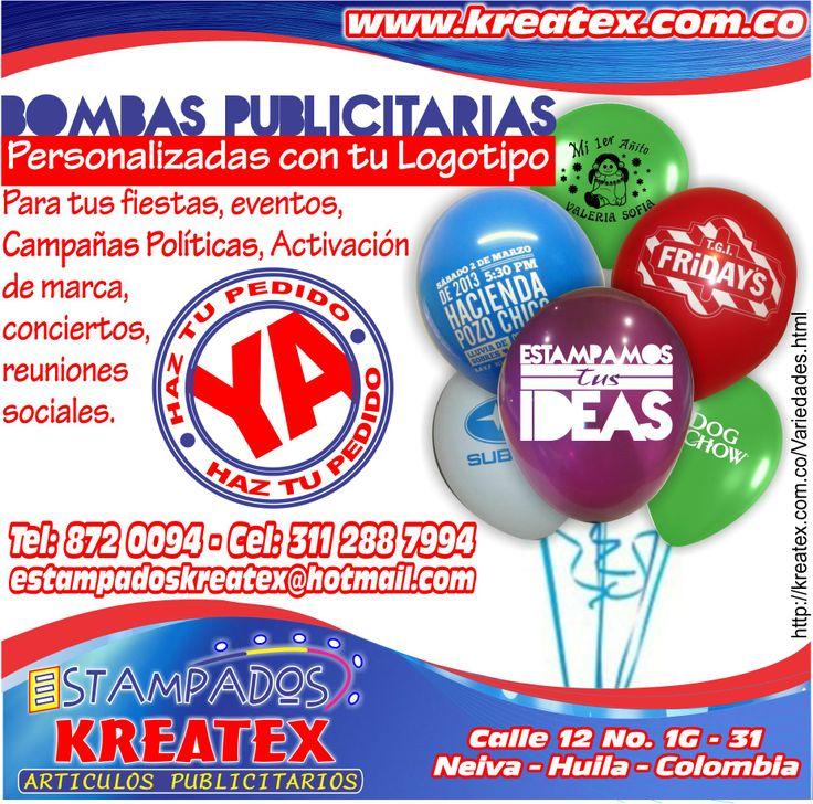 BOMBAS PUBLICITARIAS http://kreatex.com.co/Variedades/Var-11.html