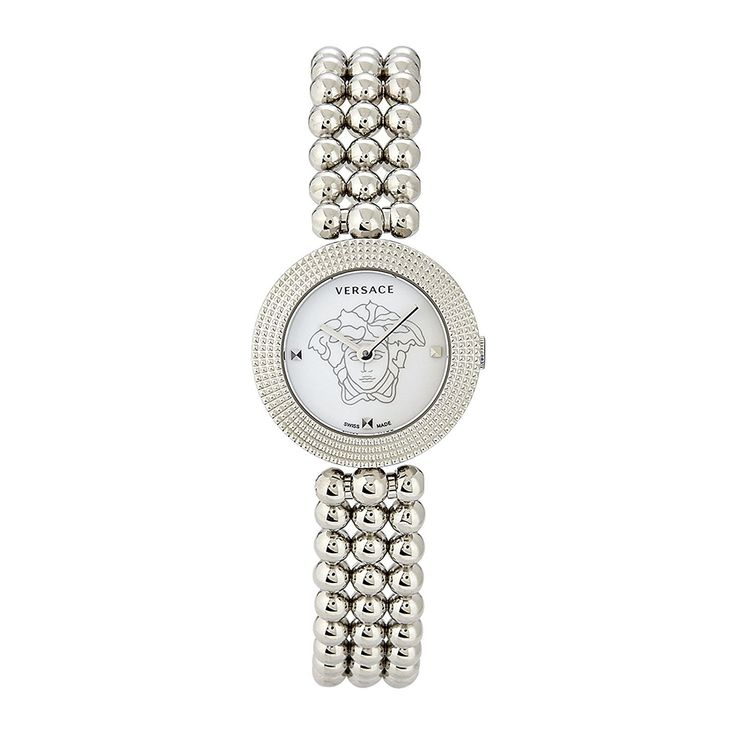 Versace VO203 0014, EON SOIRE', SS white dial SS band womens watch >>> Unbelievable  item right here! : Designer Watches