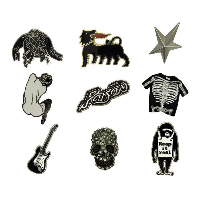 Rare black and white pins www.godert.me xx