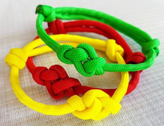Eternity Knot Adjustable Paracord Friendship Bracelet