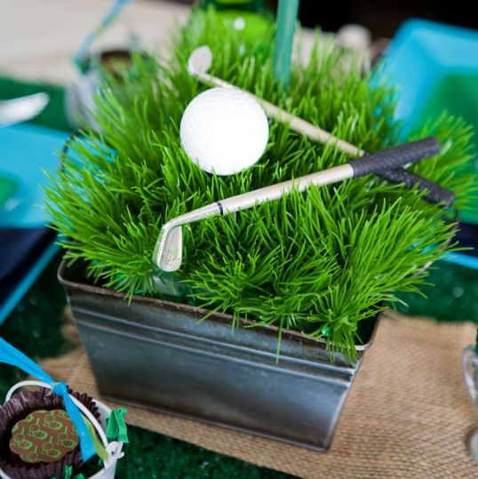 134 best images about golf themed party on pinterest for Golf decoration ideas