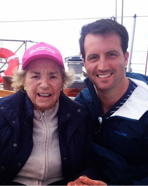 Ethel Kennedy with her grandson, Michael Kennedy Jr.