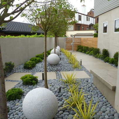 Recent projects contemporary seattle residence river for Landscaping rocks seattle