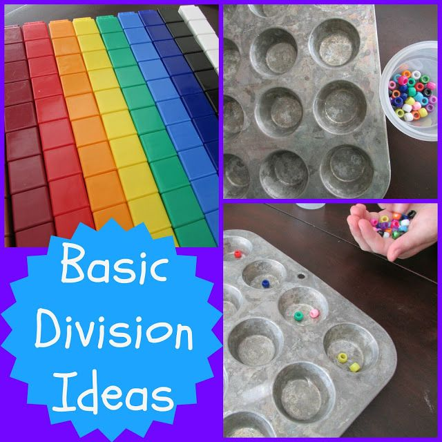 Games for division Using a muffin tin is a great idea to show equipartitioning in a concrete manner!