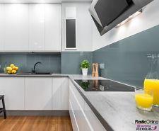 Ocean Grey Plastic Perspex Acrylic Kitchen Bathroom Splashback Like Glass