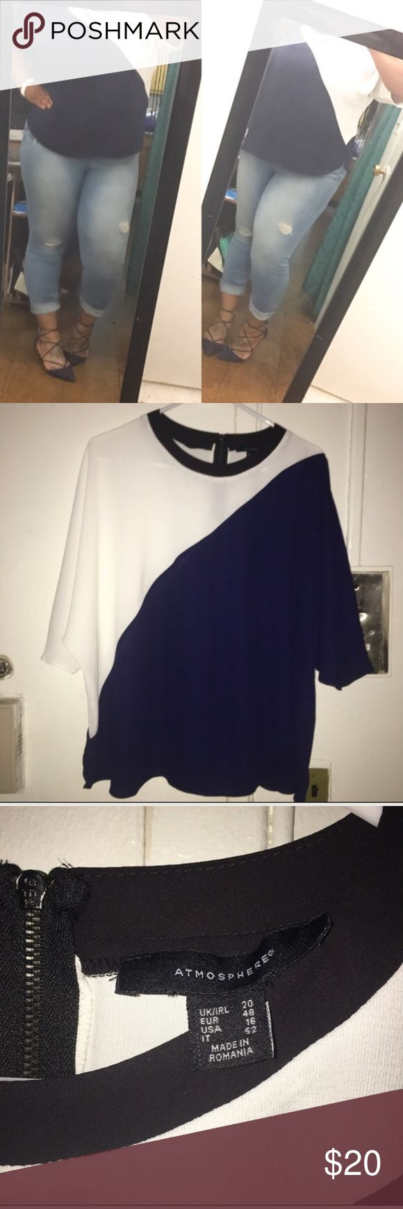 🆕 Beautiful Primark U.K Color-block Dress Top ✅ASK 4 BUNDLE DISCOUNT🚫NO LOWEST🚫NO TRADES. NWOT. Paid 40£. DISCLAIMER: Size says 16 USA, but it is actually a 2X (ME). I am a solid 2X & as you can see this fits fine with room to move around. Runs true to size, stretchable material,flows in front to conceal stomach, sleeve is elbow length (hide bat wings). Should definitely be dressed up. Questions welcomed. Primark U.K Tops Blouses