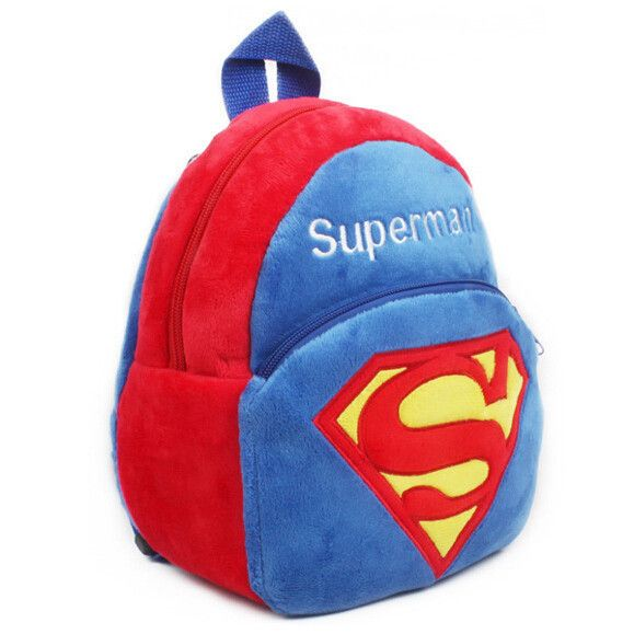 Super Cool Classic Superman Plush Durable Boy's Backpack