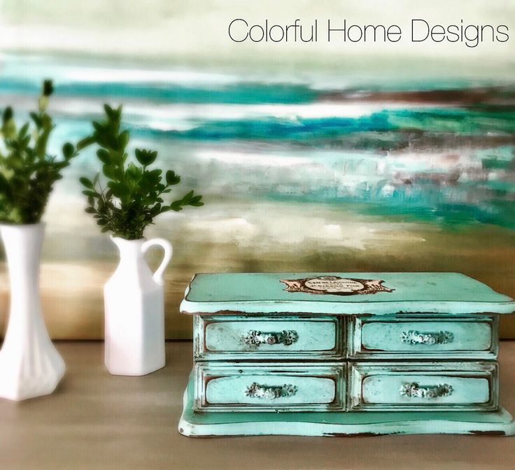 A personal favorite from my Etsy shop https://www.etsy.com/listing/525783746/vintage-jewelry-box-painted-jewelry-box