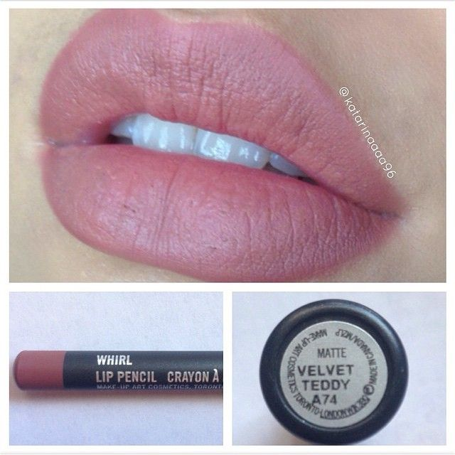 Mac 'Velvet Teddy' lipstick and 'Whirl' lip liner