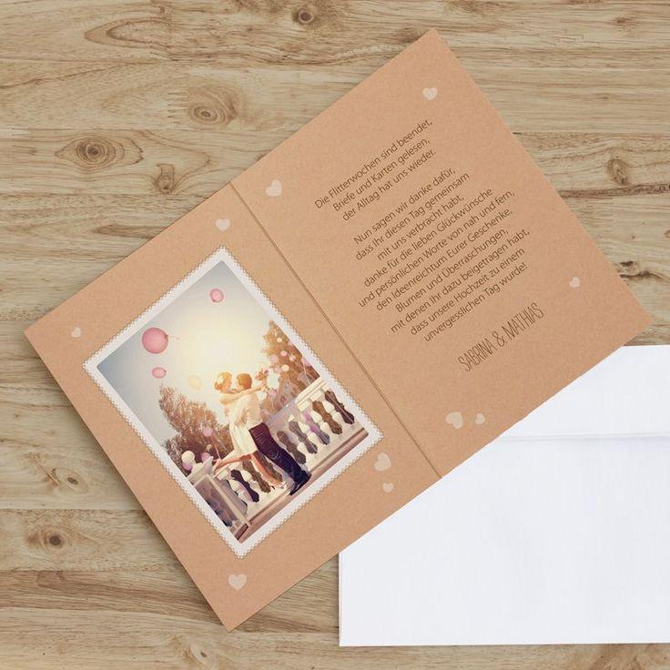 die besten 25 danksagungskarten hochzeit ideen auf pinterest dankeskarte hochzeit hochzeit. Black Bedroom Furniture Sets. Home Design Ideas