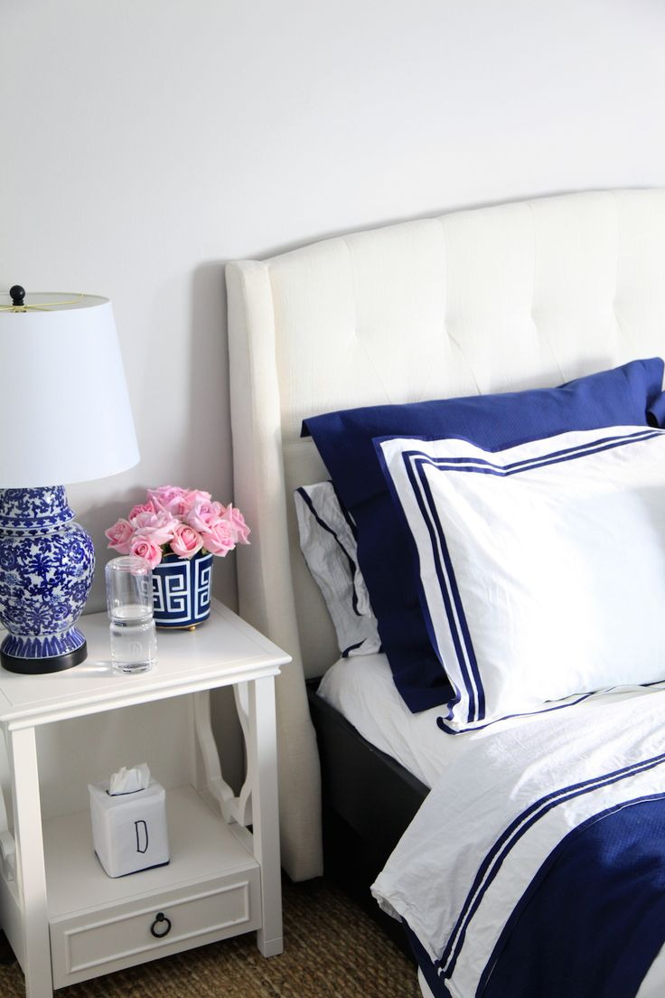 Bright and Relaxing Master Bedroom Update - {One Room Challenge - Week 4}