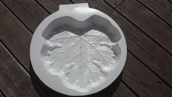 Big Leaf Stepping Stone Mold by SaharasSupplies on Etsy, $24.95