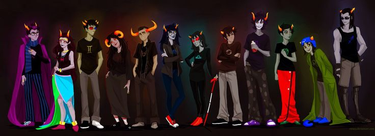 Homestuck trolls by viria13 on @DeviantArt