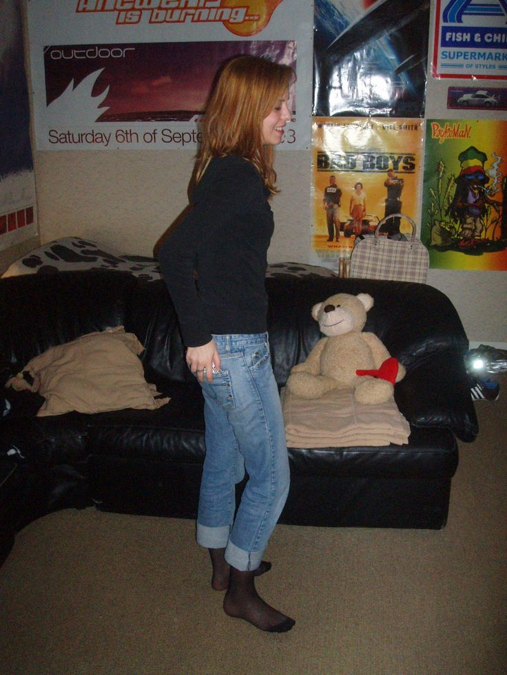 Jeans over pantyhose