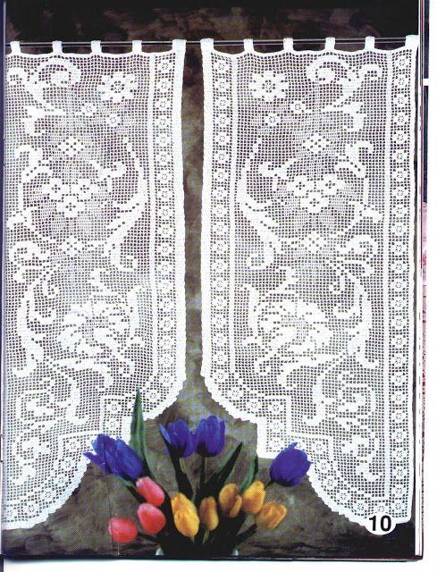 Crochet Knitting Handicraft: Cortinas
