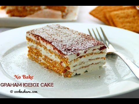 No Bake Graham Icebox Cake - 4 Ingredients - YouTube