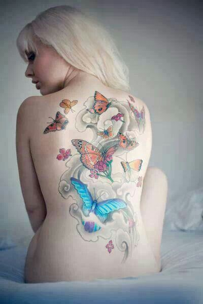 Butterflies are also tattooed.....