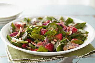 Salade d'épinards printanière