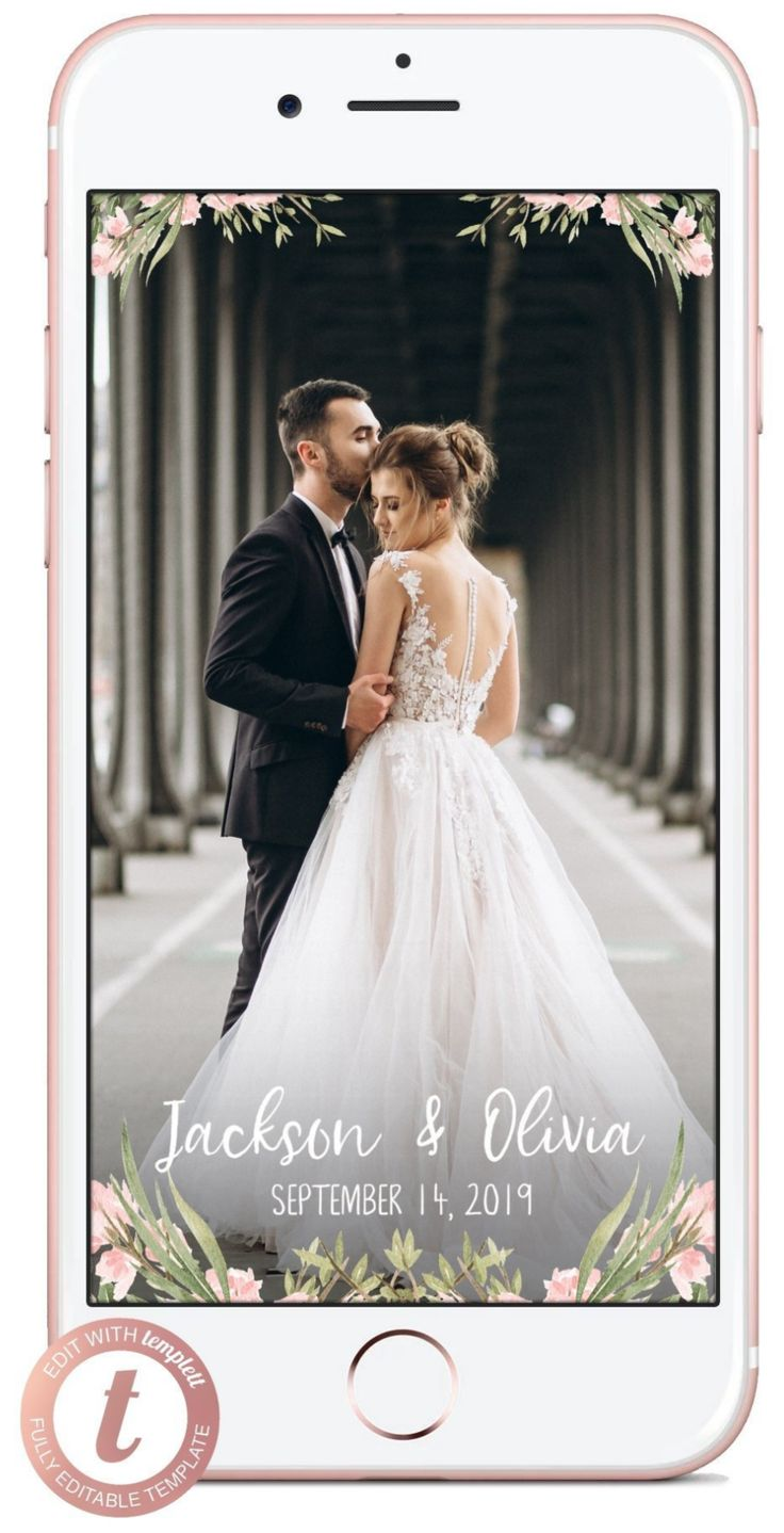 Floral Wedding Snapchat Filter Personalized Flower