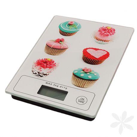 """CUPCAKE. Báscula electrónica digital imprescindible en cualquier cocina, máxima precisión, original diseño """"Cupcake"""", pantalla LCD y con capacidad máxima de 5 kg. Especial para controlar el peso de los ingredientes de tus recetas. (Pila incluida). ¡Tus recetas serán todo un éxito! #BásculaDeCocina #MenajeDelHogar"""