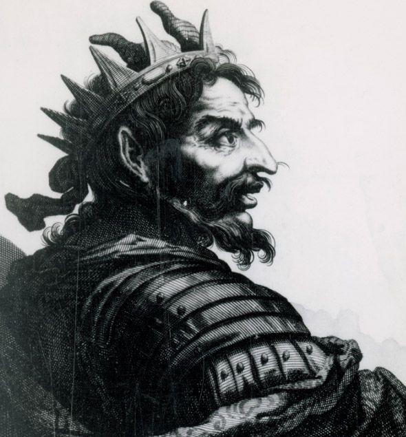 Artistic representation of Attila the Hun