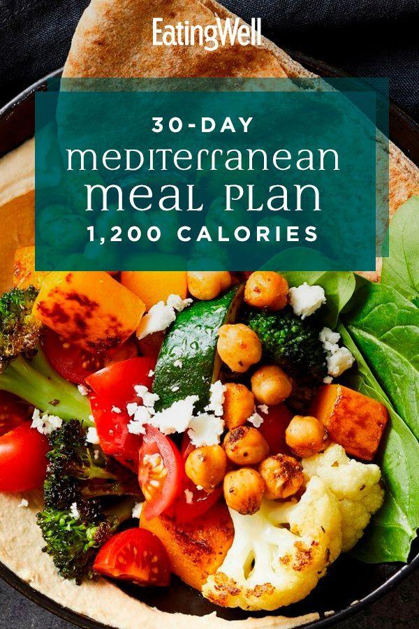 30 Day Mediterranean Diet Meal Plan 1 200 Calories Mediterranean Diet Meal Plan Mediterranean Diet Recipes Healthy Meal Plans