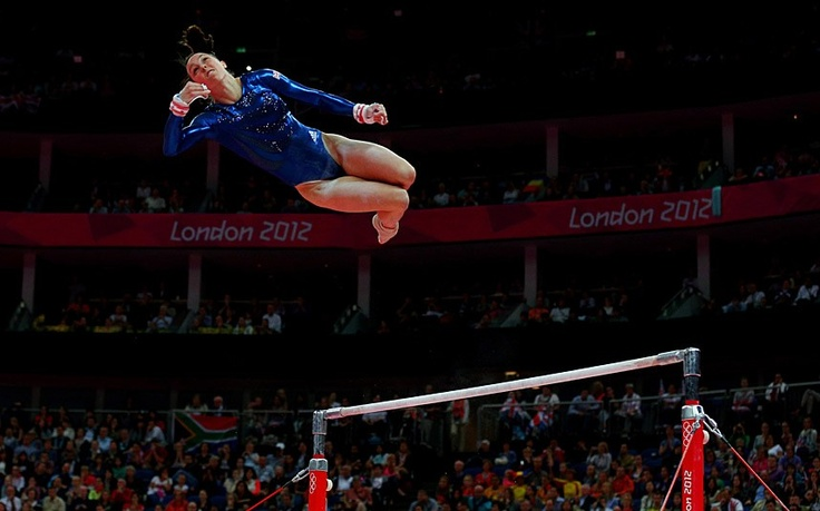 Elizabeth Tweddle of Great Britain performs on the uneven bars in the  Gymnastics Women's Team final.