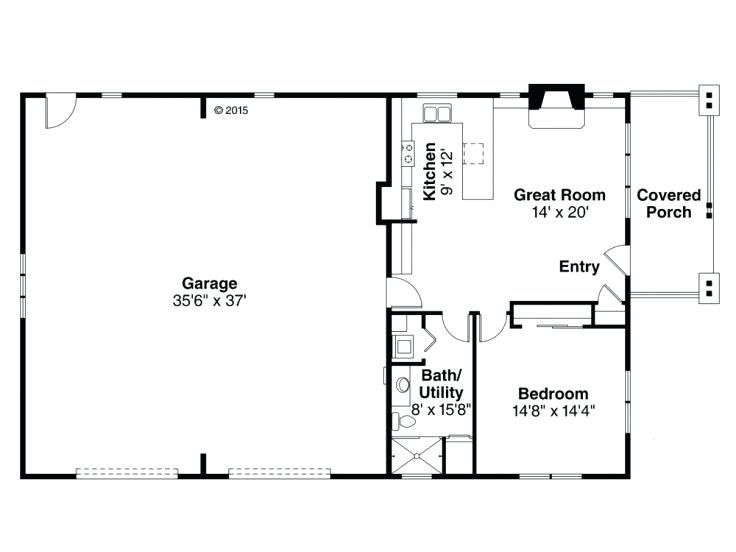 Plans Garage With Apartment One Level 1 Story Plan 2 Said Apartment Shop Building Plans Garage Apartment Plans Garage Floor Plans